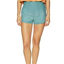 NEW Sz 10 Free People Embroidered Cheeky High Waist Shorts In Dark Turquoise