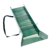 """30"""" Light Weight Green Sluice Box with Shoulder Strap - ABS Plastic 16"""" Flair"""
