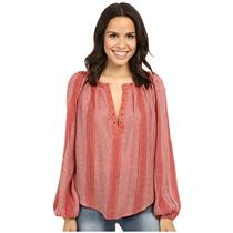 NEW Sz XS Free People Against All Odds Top Long Sleeve Top in Desert Sun Combo