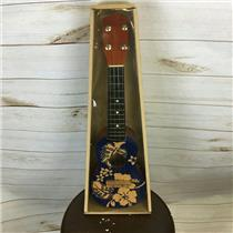 "18"" Wooden Ukulele Blue Floral Hawaiian Print Tropical Party Accessory"