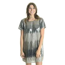 NEW M Show Me Your Mumu Tallulah Sequin Low Back Short Sleeve Dress in Shimmer