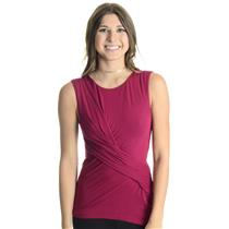 NEW L We The Free by Free People Raspberry Knit Love Me Ruched Detail Tank Top