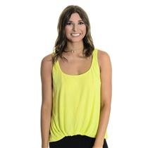 S Elizabeth and James Sleeveless Jersey Kim Tank Top Gathered Front Hem Yellow