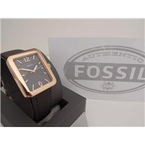 Fossil ES4245 Women's Watch.Atwater. Square Gold Tone Case and Gray Dial/Band