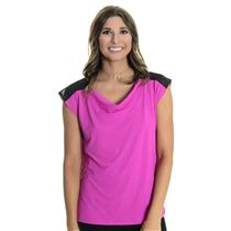 NWT S Chrissie By Tail Cowl Neck Tennis Tank W/ Extended Sleeves in Peony Pink