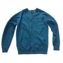 M NWT Joseph Abboud Men Sapphire Blue Button Front Signature Cardigan Sweater