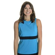 NWT Sz XL Chrissie By Tail Women's Belaire Blue Sandy Mesh Detail Tennis Tank