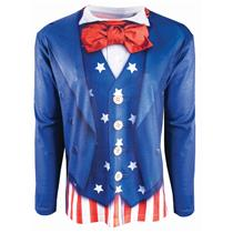 Instantly Patriotic Realistic Uncle Sam Sublimation T-Shirt Adult Size Large