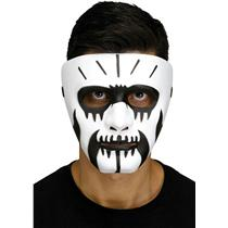 Black and White Voodoo Fangs Clown Costume Mask