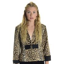 10 NEW Joseph Ribkoff Leopard Print Pink Lined Belted Cuffed Blazer Jacket 05024