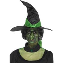 Foam Latex Green Witch Nose Prosthetic Halloween Costume Accessory with Adhesive