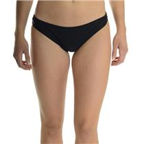 S NEW Wildfox Couture Swim Classic Low-Rise Bikini Bottom in Clean Black Solid