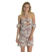 NWT M Flynn Skye Err Night Mini Aloha Red Off The Shoulder Cutout Halter Dress
