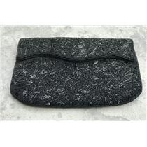 VINTAGE Black Hand Beaded FUJI BAG Evening Clutch Formal Intricate Design Classy