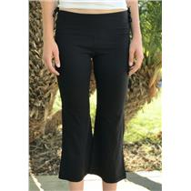 8 Lululemon Black Its a Cinch Side Drawstring Tie Nylon Spandex Crop Pants