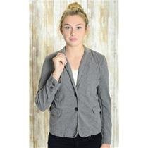 S J. Crew Charcoal Gray 100% Cotton Long Sleeve Button Front Blazer Jacket 37223
