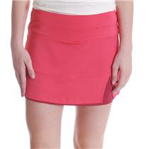 NWT M Bollé Women's Moulin Rouge Tennis Skirt with Shorts in Red Rouge Heather