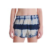 NWT Sz M Volcom 'Short Weather' Tie Dye Elastic Waist Lined Shorts in Solid Navy