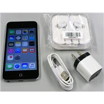 Apple iPod touch 5th Gen ME643LL/A Black Silver 16GB A1509 USB cable buds bundle