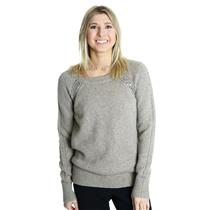 XS NWT Authentic Juicy Couture Rhinestone Trim Raglan Pullover Sweater Pearl Fog
