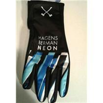 Ale Team Axeon–Hagens Berman Neon Winter Cycling Gloves - Small