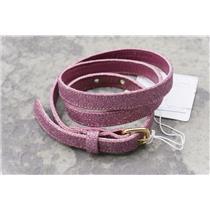 "S Magenta Maria Bonita Extra 1/2"" Thin Glitter Leather Belt C17700 31.5""-center"