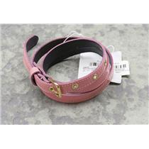 """S Magenta Maria Bonita Extra 1/2"""" Thin Patent Leather Belt C17690 31.5""""-center"""
