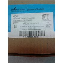 Cooper Crouse Hinds 454 Set Screw Type Box Connector For Thinwall Conduit
