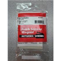 Pass & Seymour AC-1KFP On Port Keystone Faceplate Wiremold Ivory Light Almond (1/2)
