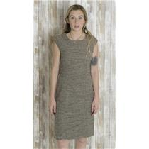 8 Sangria Grey Boucle Sleeveless Gathered Crease Panel Sheath Dress AWZDG021