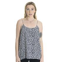 P NEW Tucker Silk Spaghetti Strap Cami Tank Top Blouse in Grey/Black/White Print