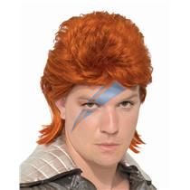 80s Orange Bowie Rock Star Wig