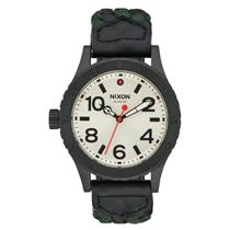 Nixon Women's Leather Watch Black/Forest  A467‑2357‑00 38‑20 Quartz