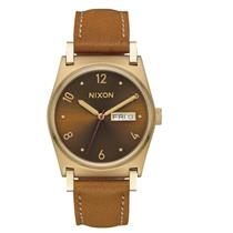 Nixon Women's Jane Leather Watch Light Gold / Manuka / Saddle 36mm