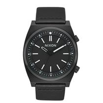 Nixon Men's Brigade Leather Watch All Black 40mm
