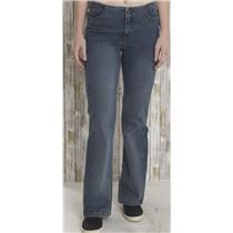 Sz 8 x 32 Beau Dawson Jeans Flare Super Stretch No Waist Blue Denim USA MADE