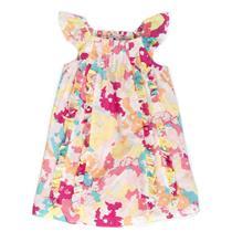 2 NWT Juicy Couture Baby Maisey Ruffle Sun Dress Cotton/Silk Pink Splash Shirred