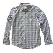 L NWT Jachs Just a Cheap Shirt Plaid Gingham Western Shirt Black Gray Button Up
