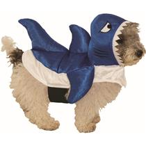 Blue Shark Pet Fish Dog Costume Size Medium