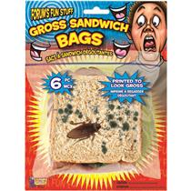 4 pack Gross Moldy Sandwich Bags Novelty Gag Gift Prop