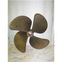 "Boaters Resale Shop of TX 1806 1744.11 BRONZE 4 BLADE 22RH25 PROP - 1-7/8"" CUP"