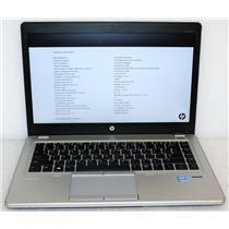 "HP Elitebook Folio 9470M 14"" Core i5 3rd Gen 1.7Ghz 120GB-SSD 6GB Chrome WiFi BT"
