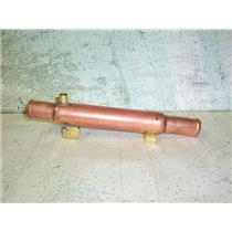 "Boaters Resale Shop of TX 1807 2721.14 COPPER HEAT EXCHANGER 1.5"" x 11.75"""