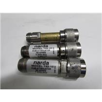 lot of 3 Narda 752-10, 752-20 Attenuators