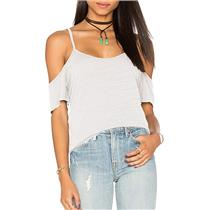 LNA Women's White Off the Shoulder Top in White, Large