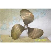 "Boaters' Resale Shop of TX 1810 0422.72 BRONZE 3 BLADE 22RH16 PROP- 1.75"" SHAFT"