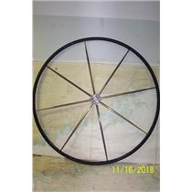 "Boaters Resale Shop of TX 1811 0774.01 LEATHER WRAPPED 42"" STEERING WHEEL"