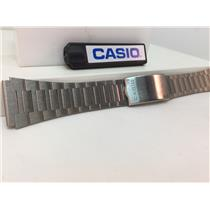 Casio Original Watchband/Bracelet Number B-613L. Unknown Model. 20mm Silver Tone