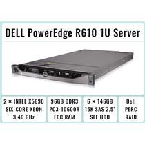DELL PowerEdge R610 1U Server 2×Xeon X5690 Six-Core 3.46GHz + 96GB RAM + 6×146GB