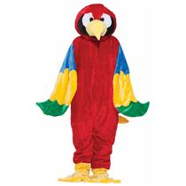 Red Parrot Bird Team Mascot Quality Adult Costume